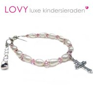 Communie-armbandje-Faith-roze